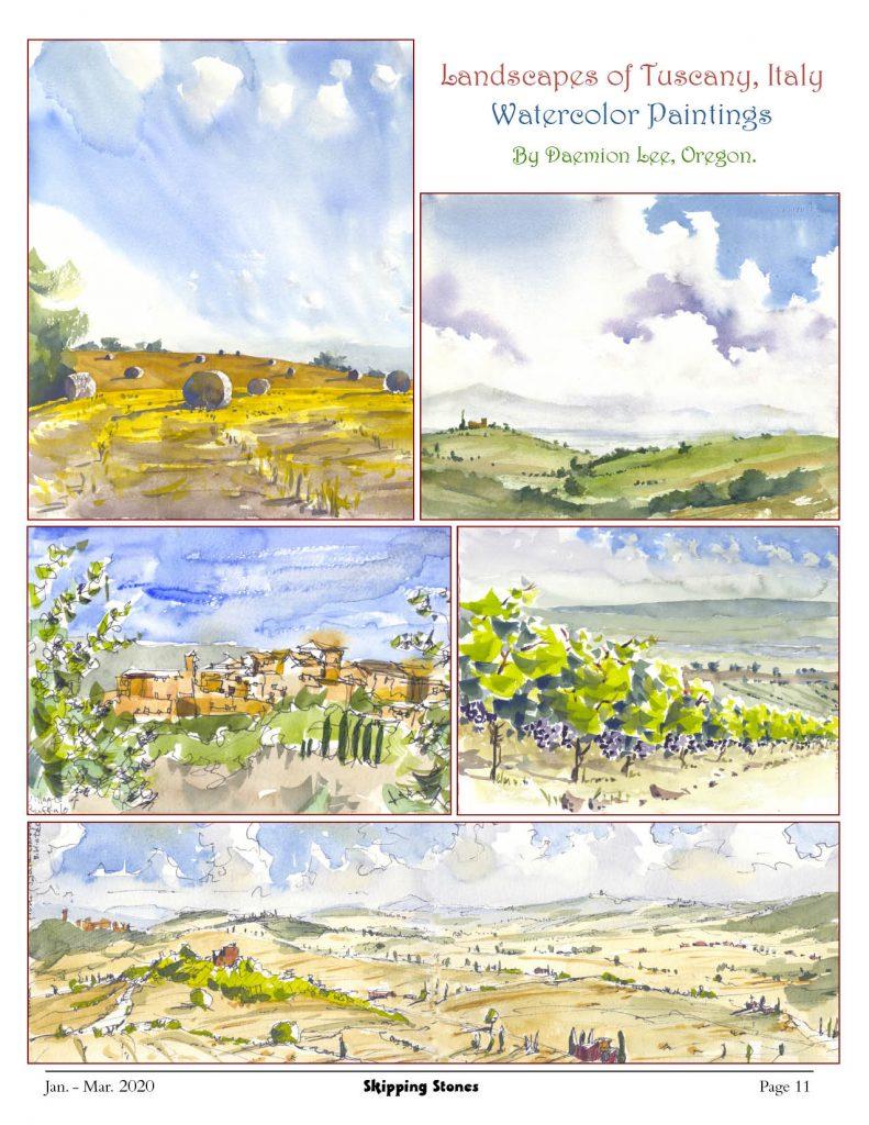 Landscapes of Tuscany, Italy