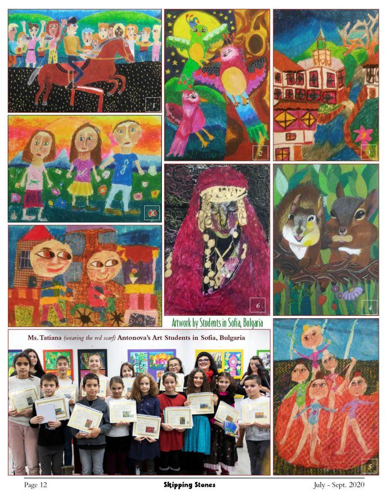 Artwork by Tatiana Antonova's Students in Sofia, Bulgaria