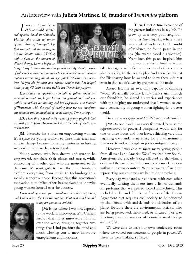 An interview with Julieta Martinez
